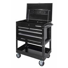 Husky 33 In. 4-Drawer Mechanics Tool Cart, Black-HOUC3304B10 - The ...