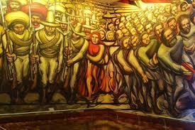 mural de david alfaro siqueiros en el castillo de chapultepec