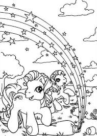 My Little Pony Rarity And Pinkie Pie With Rainbow Star Coloring Page