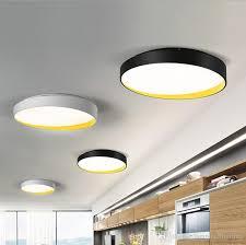 großhandel moderne sylish designer d40cm d60cm led deckenleuchten weiß schwarz acryl aluminium leuchte plafons led für esszimmer wohnzimmer