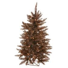 Vickerman 3 Mocha Tree Artificial Christmas