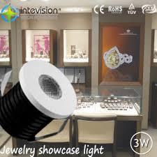 aluminium cree xbd 3w led jewellery cabinet lighting