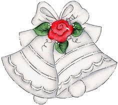 Vignette clipart wedding bell 1