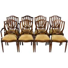 Set Of Eight Mahogany Hepplewhite Shield Back Dining Room Chairs 4 Hepplewhite Style Mahogany Yellow Floral Upholstered Ding Chairs Style Ding Table And Chairs Pair George Iii Mahogany Armchairs Antique Set Of 8 English Georgian 12 19th Century Elegant Mellow Edwardian Design Antiques World 79 Off Wood Hogan Side Chair Eight Late 18th Of