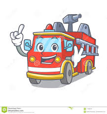 100 First Fire Truck Finger Mascot Cartoon Stock Vector Illustration Of