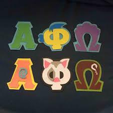 Alpha Phi Omega Letters Letter Shirts Solicitation Stencil Cover