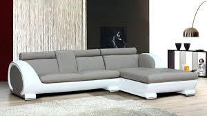 canape angle arrondi canape design angle cuir taupe et blanc
