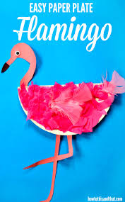 Easy Paper Plate Flamingo Craft