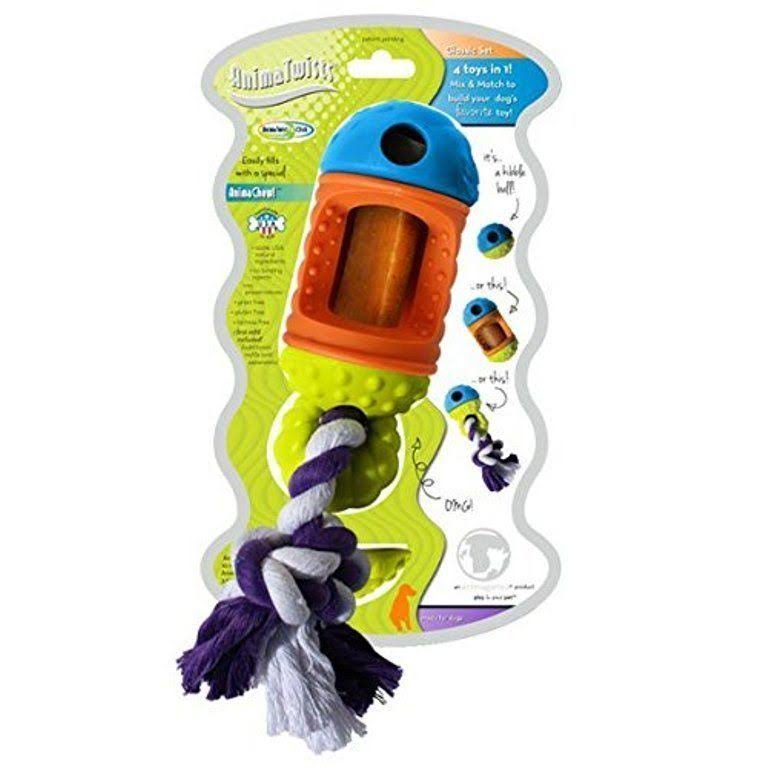 Animatwist 4-in-1 Dog Chew Toy and Treat Dispenser