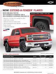 Silverado Bed Sizes by New Bushwacker 2014 U0026 2015 Chevrolet Silverado Fender Flares U2013 Taw