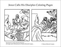 Marvellous Jesus Disciples Coloring Page Calls His