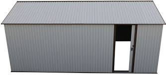 duramax 12x20 white metal storage garage building kit 50931