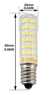 bonlux 4 packs dimmable 6w e14 led candle light bulb cool white
