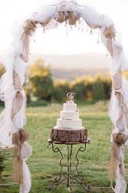 Rustic Burlap And Lace Wedding Arch What A Beautiful Decoration Idea