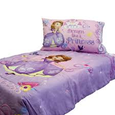 Amazon Sofia First Princess Scrolls 4 Piece Toddler Bedding