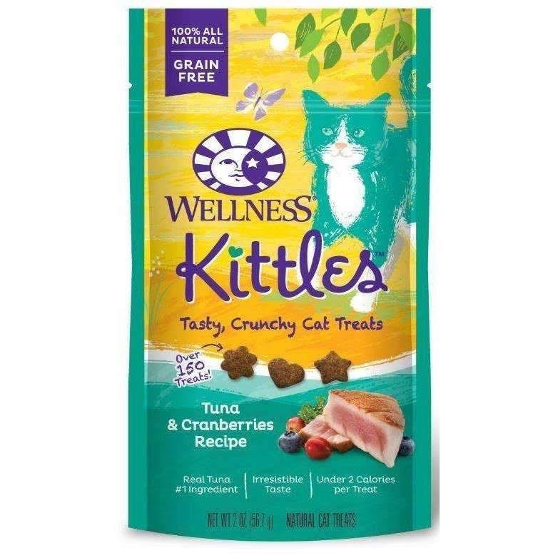 Wellness Kittles Crunchy Natural Grain Free Cat Treats - Chicken and Cranberries, 2oz