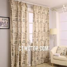 Paris Themed Living Room Decor by Paris Themed Bedroom Curtains 1021