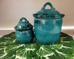 Turquoise Kitchen Canister Sets by But First Coffee Kitchen Canister Set Choose From 1 Or 2