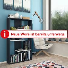 vicco regal markus 3 ablagen bücherregal wandregal standregal regal raumteiler anthrazit weiß