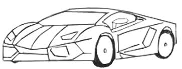 Sports Car Drawing step 5