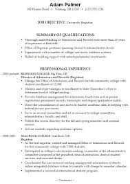 College Resume Examples For High School Seniors Of Resumes