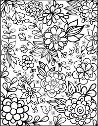 Detailed Flower Coloring Pages For Adults Stylish Inspiration Adult Flowers Best