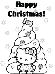 Coloring Pages Kitty Cat Printable Hello Pictures Print Happy Tree Free Online