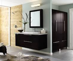 Wall Mounted Bathroom Vanity in Dark Cherry Decora