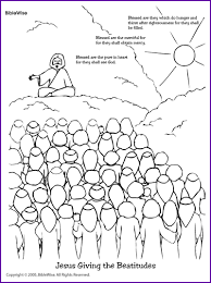 Coloring Jesus Giving The Beatitudes
