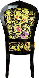 pompöös by casa padrino luxus barock esszimmerstuhl butterflies flowers mehrfarbig schwarz gold pompööser barock stuhl designed by harald