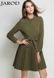 vetement de bureau ol femmes automne armée vert bureau robe vetement femme 2017 robe