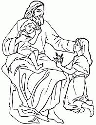 Jesus Loves The Little Children Coloring Online