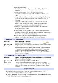 Electrical Engineer Resume Template Sample For Experienced Mechanical Australia