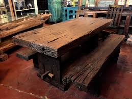 Java Reclaimed Iron Wood Dining Table Set SOLD Definitely The Heaviest That