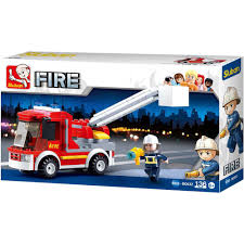 100 Lego Fire Truck Games Sluban Kids Building Blocks 136 Pcs Set Building Toy