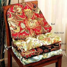 Literarywondrous Round Dining Room Chair Cushions Pads With Ruffles