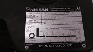 100 Nissan Lift Trucks Model Mug1f2a30lv Forklift Password Default If Thier Is A
