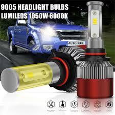 9005 hb3 h10 9145 9140 1050w 6000k led headlight bulbs pk 9006 h13