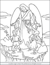 Guardian Angel Coloring Page Sheets Pages Pdf Hearts With Wings