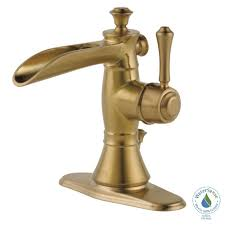 Delta Trinsic Kitchen Faucet Champagne Bronze by Delta Trinsic Single Hole Single Handle Bathroom Faucet With Metal