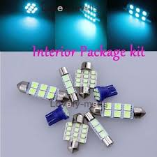 blue light bulb smd interior led package kit for nissan