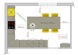 plan ilot cuisine plan de cuisine avec ilot central plan de cuisine avec ilot