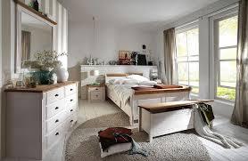 schlafzimmer komplett mit bett 140x200 kiefer weiß landhausstil casade mobila