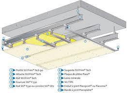 pose rail placo plafond stil prim tech système pour plafonds longue portée l placo