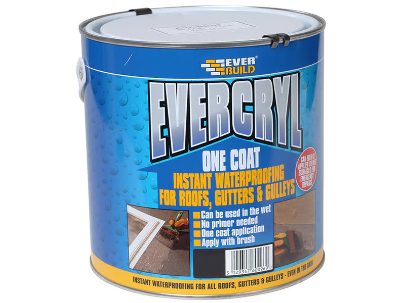 Everbuild Evercryl One Coat - Grey, 5kg