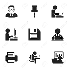 icon bureau set of 9 editable bureau icons includes symbols such as printing