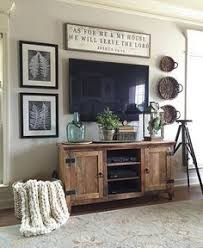 Living Room Decor Rustic Farmhouse Style Tv Entertainment Center Wall Vintage Ideas Design