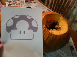 Mario Pumpkin Carving Patterns by How To Carve A Mario Pumpkin Find This Pin And More On Pumpkin