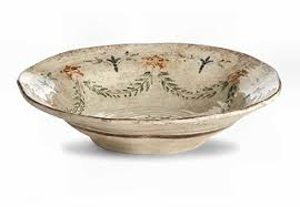 Rustic Italian Shallow Serving Bowl
