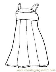 Pin White Dress Clipart Coloring Page 8